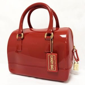 Furla Candy Cookie Mini Red PVC Satchel